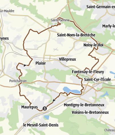 Carte / Maurepas-Thiverval-forêt Marly-B d'Arcy-Maurepas