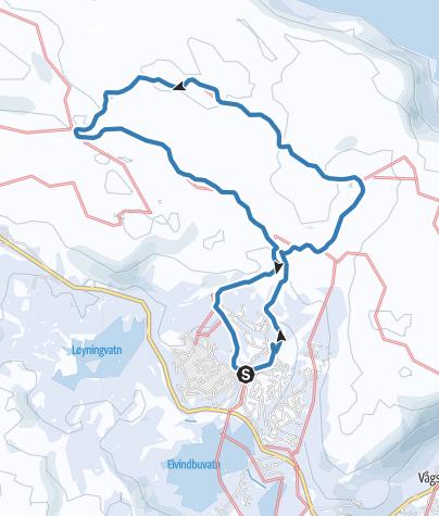 Carte / Vågslid Rundtur13km Vågslidfjellet