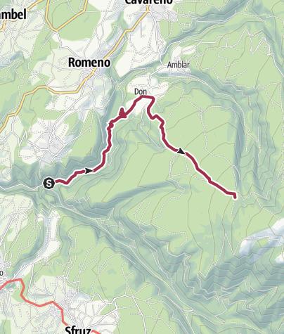 Map / SAT 539 - San Romedio - Don - Malga di Sanzeno