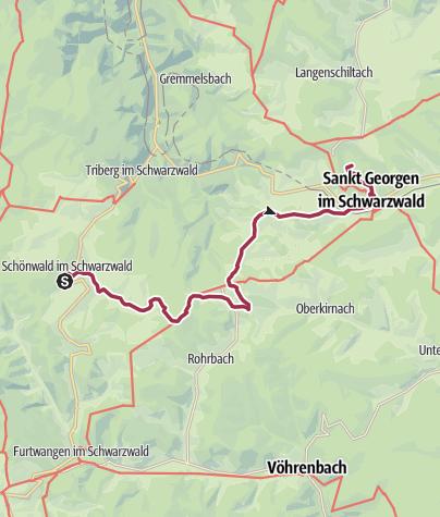 Karte / Schönwald - Wandererlebnis Kapellenweg Tour 4