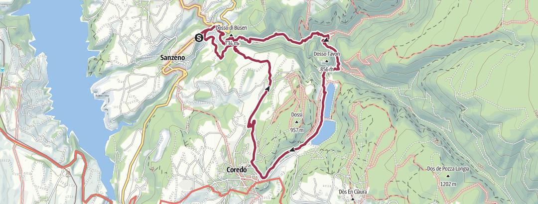 Karte / Sanzeno - Tavon - Coredo - San Romedio