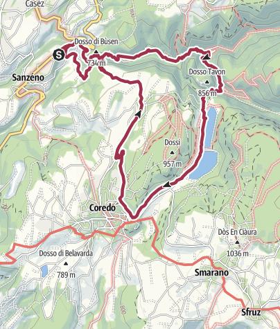 מפה / Sanzeno - Tavon - Coredo - San Romedio