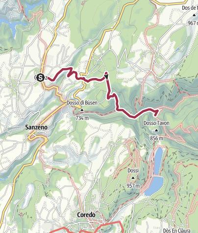 Map / Casez - Malgolo - San Romedio