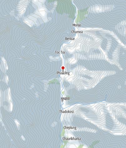 Karte / Guest House in Phakding~2655m