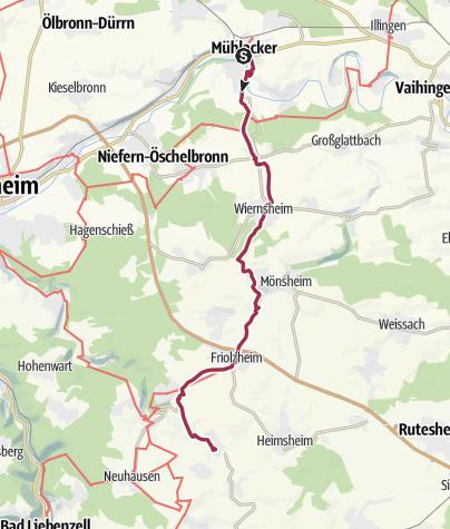 Nordschwarzwald Karte.Klosterroute Nordschwarzwald Etappe 2 Mühlacker Mühlhausen