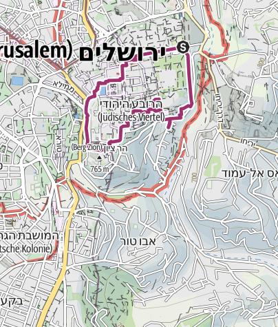 Karte / Stadtrundgang durch die Altstadt Jerusalems
