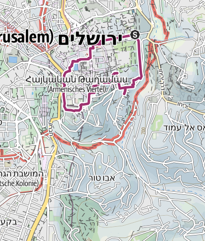 Jerusalem Karte Deutsch.Stadtrundgang Durch Die Altstadt Jerusalems Stadtrundgang