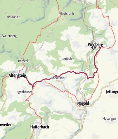 Nordschwarzwald Karte.Klosterroute Nordschwarzwald Etappe 5 Wildberg Altensteig