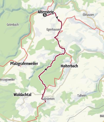 Nordschwarzwald Karte.Klosterroute Nordschwarzwald Etappe 6 Altensteig Waldachtal