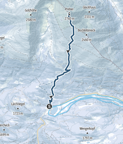 Karte / Preber Schitour