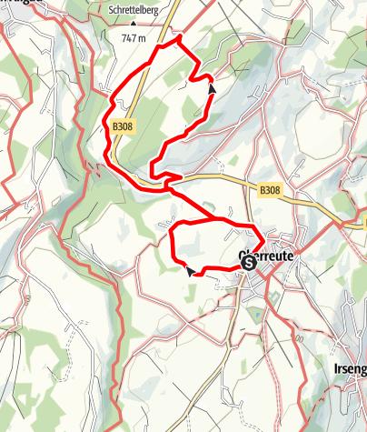 Karte / Rundweg Hasenried - Oberberg Panoramatafel