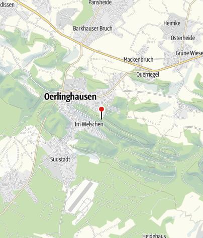 Karte / Ehrenmal auf dem Tönsberg Oerlinghausen