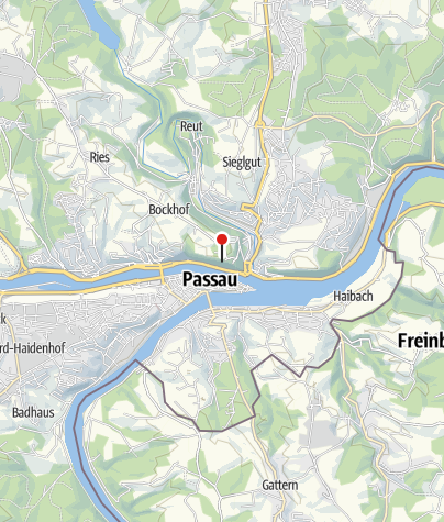 地图 / Panoramablick Passau Oberhaus