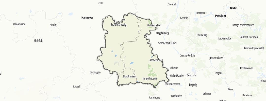 Map / Geopark Harz – Braunschweiger Land – Ostfalen