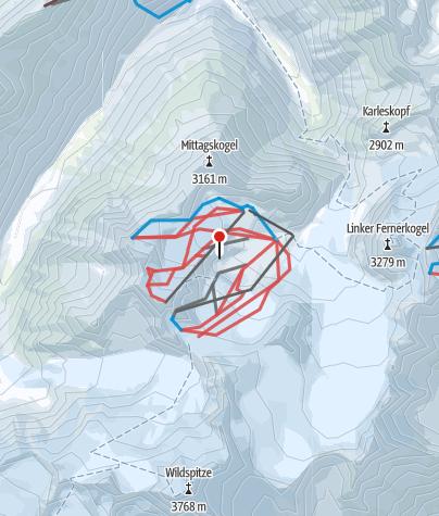 מפה / Pitztaler Gletscher & Rifflsee