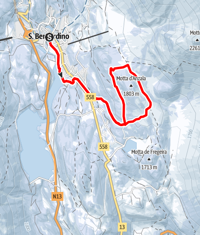 Cartina / Motta d'Anzala - itinerario invernale (#4)