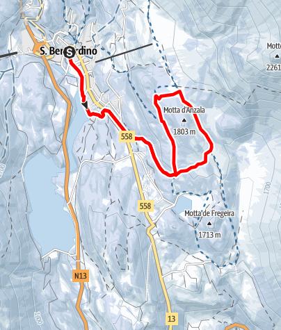 Map / Motta d'Anzala - itinerario invernale (#4)