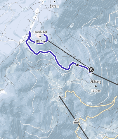Cartina / Pista da slittini Monte San Vigilio