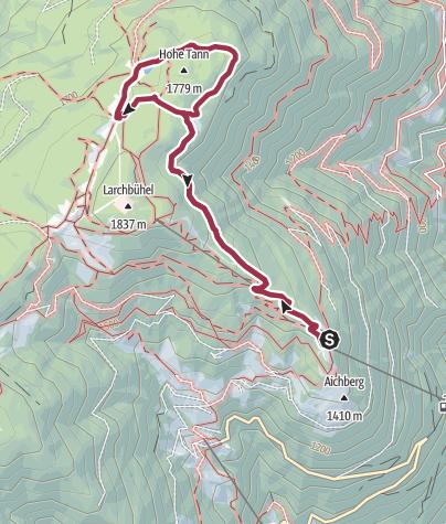 Map / Snowshoeing Monte S.Vigilio/Vigiljoch