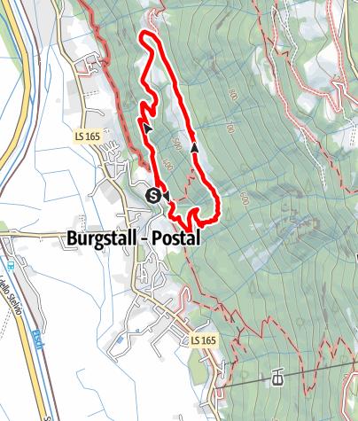 Karte / Burgstall Höfetour