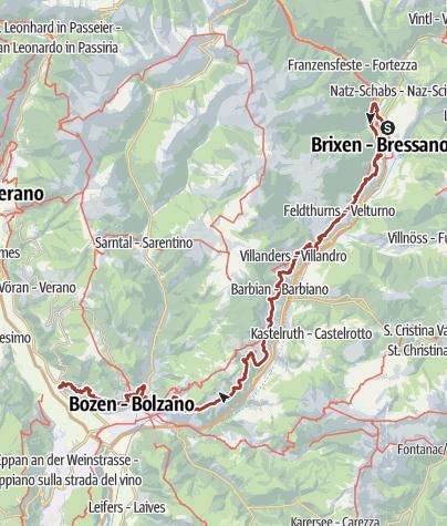 Cartina / Sentiero del castagno della Valle Isarco