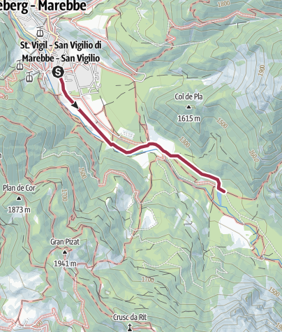 Cartina / Passeggiata invernale: San Vigilio - Lé dla Creda