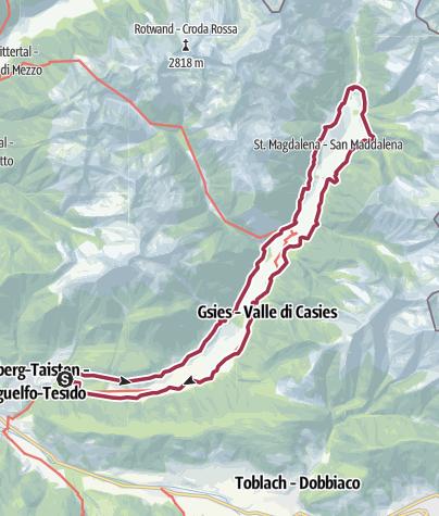 Karte / Wanderung auf dem Gsieser Talblickweg