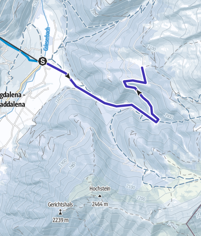 Map / First Ackerle-Stumpfalm a S. Maddalena/Gsieser Tal Valley