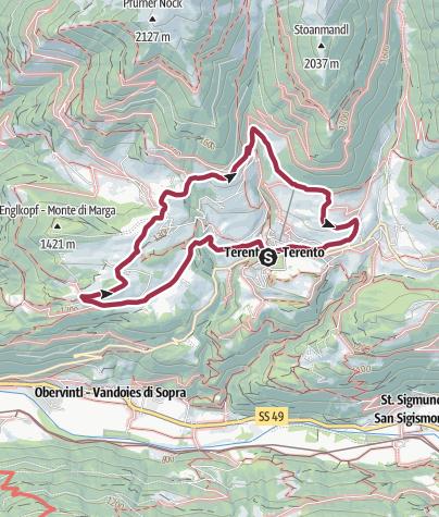 Map / Sentiero circolare panoramico/Panoramarundweg