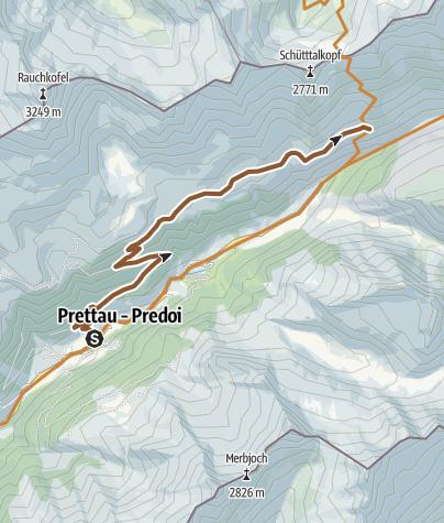 Karte / Mountainbike-Panoramatour Tauernalm