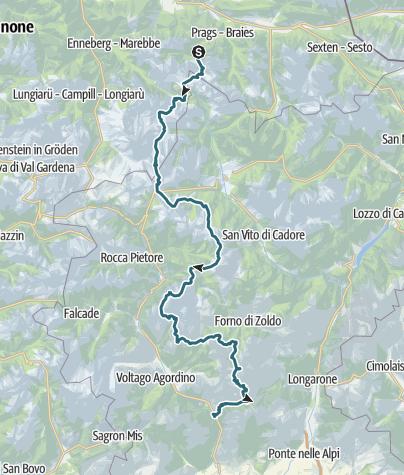 Cartina / Altavia delle Dolomiti n. 1