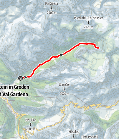 Cartina / Jogging nella Vallunga