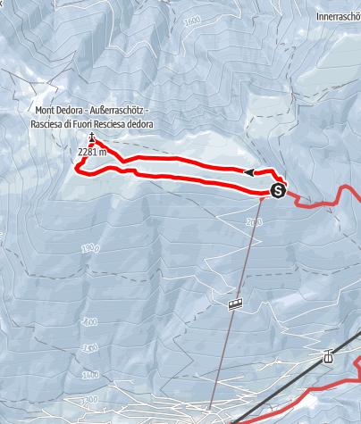 Map / Snowshoe hike Rasciesa outside