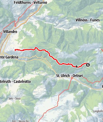 Cartina / Sentiero Troi Paian