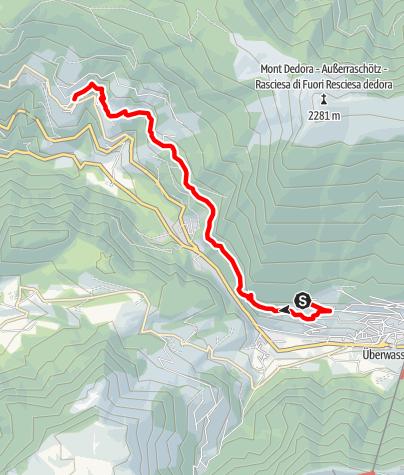 Karte / Wanderung entlang des Poststeiges