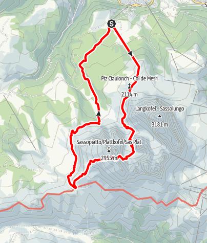 Map / Via Ferrata Oskar Schuster
