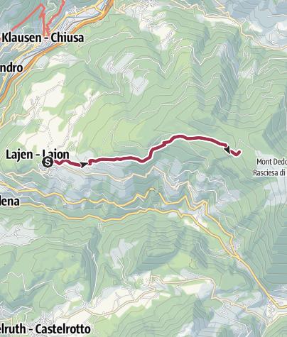 Cartina / Da Laion alle Malghe Unterpulg e  Ramitzl