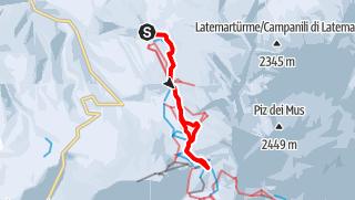 Map / Winter Hike from Obereggen to the Eggentaler Almen Pastures