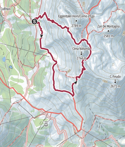 Map / Hike to the Latemarhütte Mountain Hut