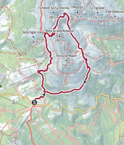 Map / Hike to the Heart of the Rosengarten Massif – Vajolon Pass