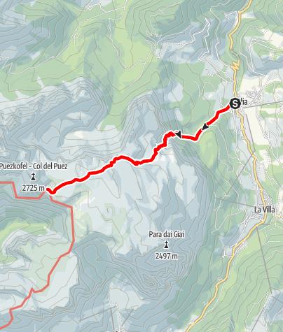 Map / Badia - Val de Valacia - Puez