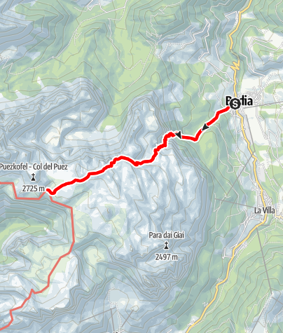 Mappa / Badia - Val de Valacia - Puez