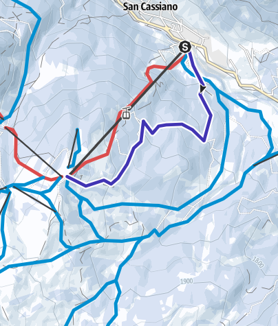 "Map / Natural toboggan run ""Tru liösa Foram"" in San Cassiano"