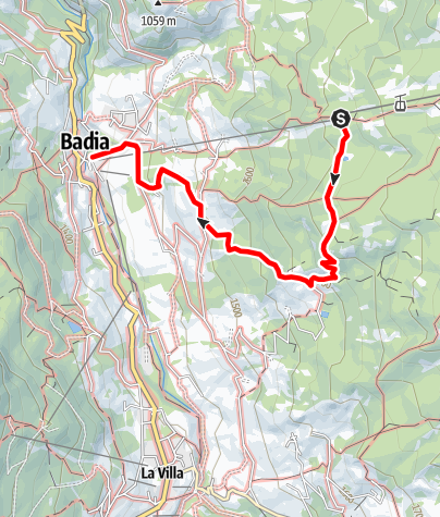Map / Hike to the Pasciantadú pastures passing near the Lech Dla Le lake