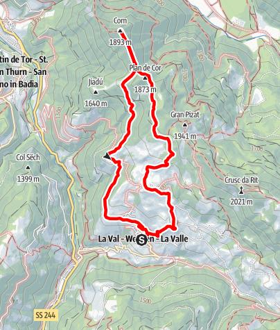 Cartina / Escursione La Val - Ciampëi - Côr - Biei - La Val