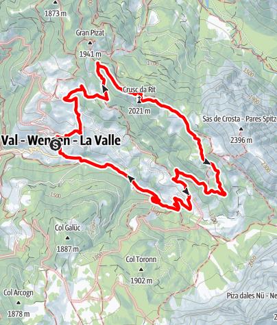 Cartina / Escursione da La Val ai prati di Rît