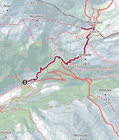 Map / From Stein to Pfitscherhoch lakes