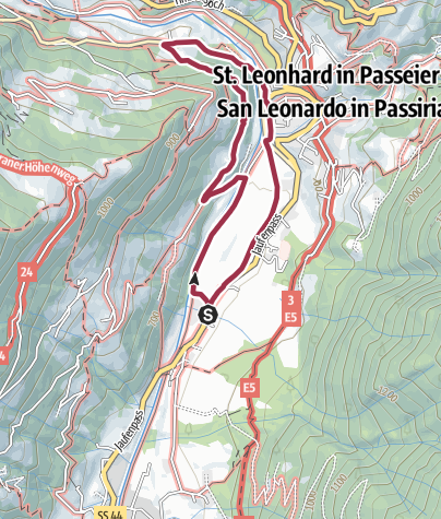 Cartina / Sentiero dei nani a S. Leonardo
