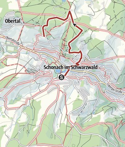 Map / Schonach - Schalensteinwanderung