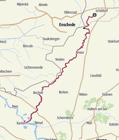 Karte / X 8: Bad Bentheim - Bislich